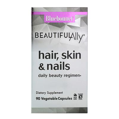 Купить Bluebonnet Nutrition Beautiful Ally, Для волос, кожи и ногтей, 90 вегетарианских капсул