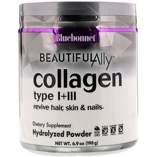 Bluebonnet Nutrition, Beautiful Ally, Collagen Type I + III, 6.9 oz (198 g)