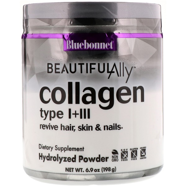 Bluebonnet Nutrition, Beautiful Ally, Collagen Type I + III, 6.9 oz (198 g) (Discontinued Item)