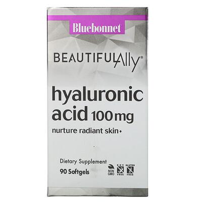 Купить Bluebonnet Nutrition Beautiful Ally, Hyaluronic Acid, 100 mg, 90 Softgels