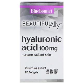 Bluebonnet Nutrition, Beautiful Ally, Hyaluronic Acid, 100 mg, 90 Softgels