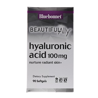 Bluebonnet Nutrition, Beautiful Ally, Hyaluronic Acid, 100 mg, 90 Softgels