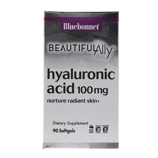 :Bluebonnet Nutrition, Beautiful Ally, Hyaluronic Acid, 100 mg , 90 Softgels
