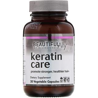 Bluebonnet Nutrition, Прекрасный союзник, кератиновый уход, 30 вегетарианских капсул