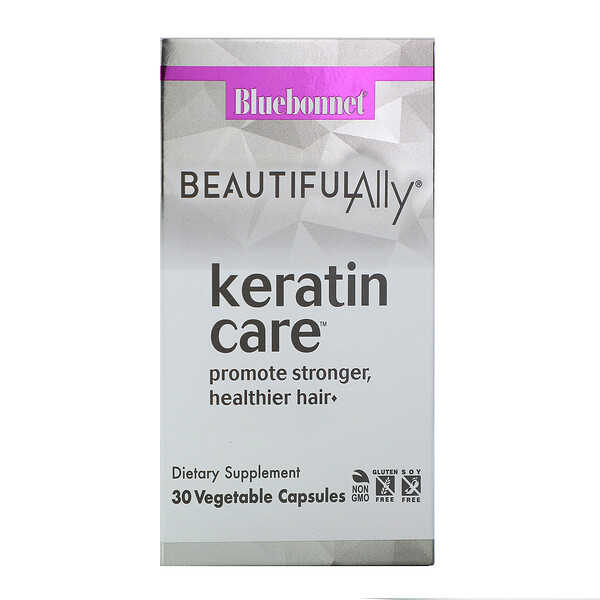 Bluebonnet Nutrition, Beautiful Ally, Keratin Care, 30 Vegetable Capsules