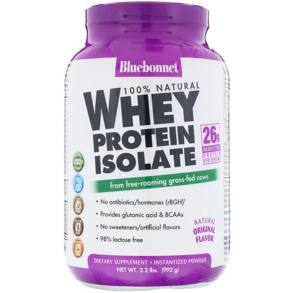 Isolado Proteico de Soro Natural 100%, Sabor Original Natural, 992 g (2,2 lb)