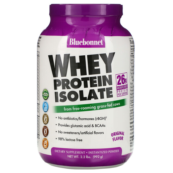 100% Natural Whey Protein Isolate, Natural Original Flavor, 2.2 lbs (992 g)