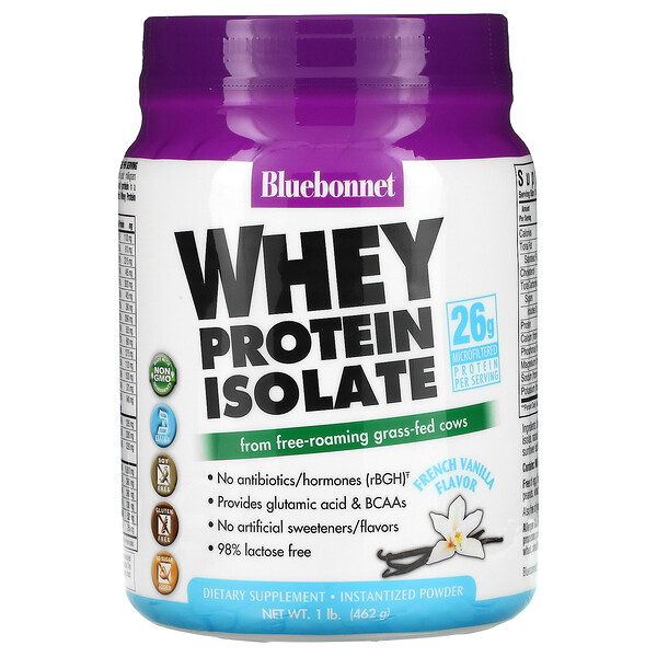 Whey Protein Isolate, French Vanilla Flavor, 1 lb. (462 g)