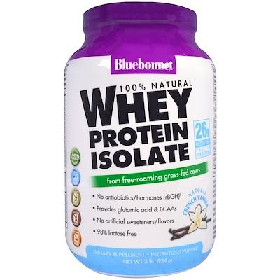 Купить Bluebonnet Nutrition 100 % натуральный изолят сывороточного белка, с натуральным оригинальным вкусом, 924 г (2 фунта)