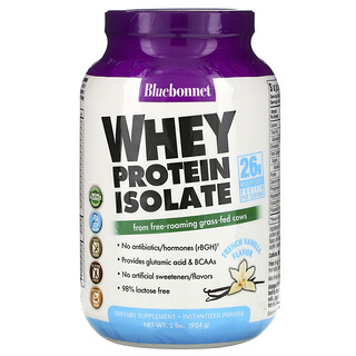 Bluebonnet Nutrition, Whey Protein Isolate, French Vanilla, 2 lbs (924 g)