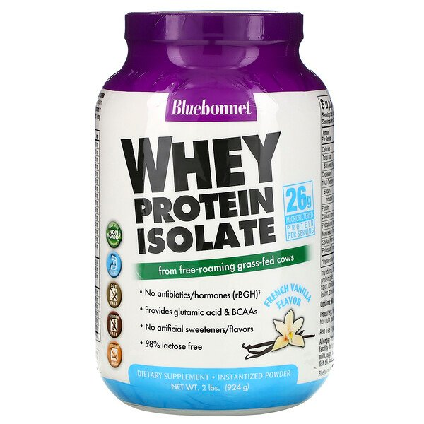 Whey Protein Isolate, French Vanilla, 2 lbs (924 g)