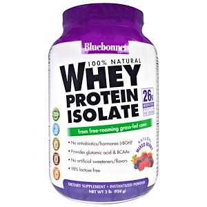 Блубоннэт Нутришен, Whey Protein Isolate, Natural Mixed Berry Flavor, 2 lbs (924 g) отзывы