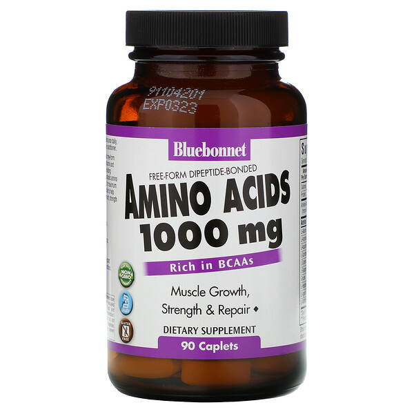 Bluebonnet Nutrition, Amino Acids, 1,000 mg, 90 Caplets