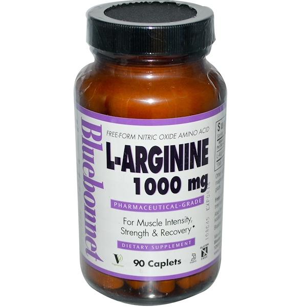 Bluebonnet Nutrition, L-Arginine, 1000 mg, 90 Caplets (Discontinued Item)