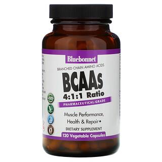 Bluebonnet Nutrition, BCAAs 4:1:1 Ratio, 120 Vegetable Capsules
