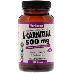 Блубоннэт Нутришен, L-Carnitine, 500 mg, 100 Licaps отзывы