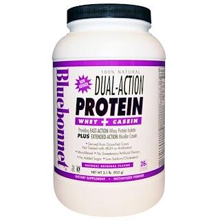 Bluebonnet Nutrition, 100% Natural Dual-Action Protein Whey + Casein, Natural Original Flavor, 2.1 lb (952 g)
