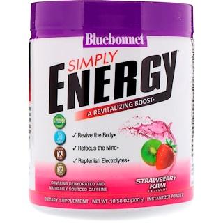 Bluebonnet Nutrition, Просто энергия, Клубника и киви, 10,58 унц. (300 г)