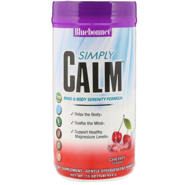 Bluebonnet Nutrition, Simply Calm, Cherry Flavor, 16 oz (454 g) (Discontinued Item)