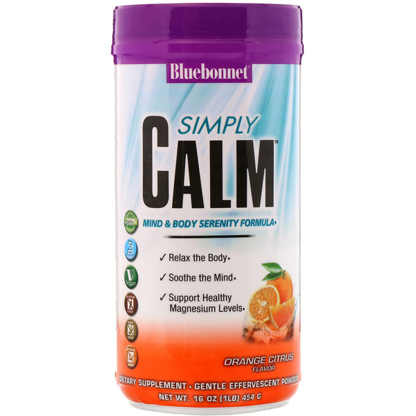 Bluebonnet Nutrition, Simply Calm Powder, Orange Citrus Flavor, 16 oz (454 g) (Discontinued Item)