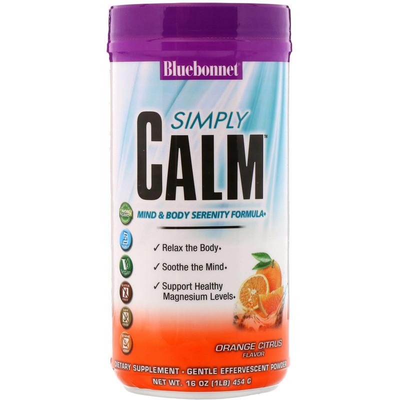 Simply Calm Powder, Orange Citrus Flavor, 16 oz (454 g)