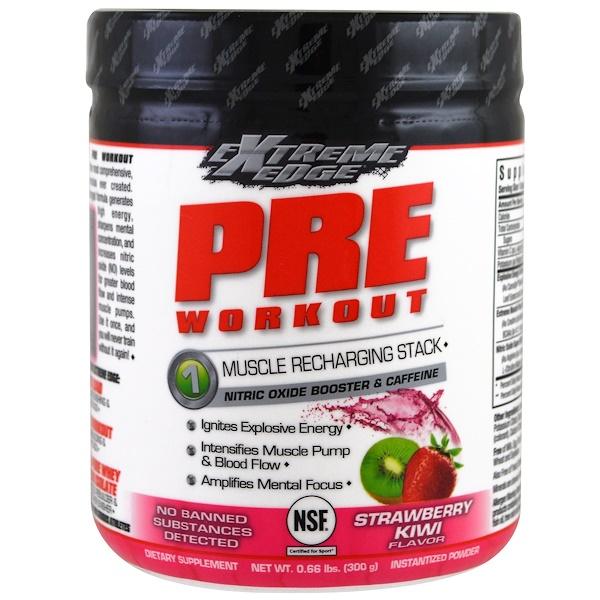 Bluebonnet Nutrition, Extreme Edge, перед тренировкой, со вкусом клубники и киви, 300 г (0,66 фунта) (Discontinued Item)