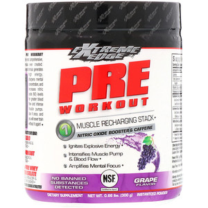 Блубоннэт Нутришен, Extreme Edge, Pre Workout, Muscle Recharging Stack, Grape Flavor, 0.66 lbs (300 g) отзывы