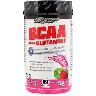 Bluebonnet Nutrition, Сверхактивные аминокислоты с разветвлённой цепью плюс глютамин, вкус клубники и киви, 375 г