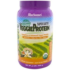Bluebonnet Nutrition, Super Earth, Organic Veggie Protein, Vanillla Chai Flavor, 2 lb (900 g)