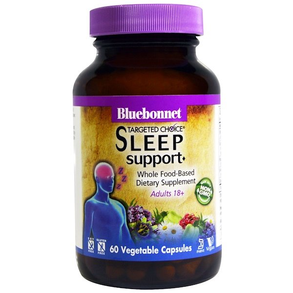 Bluebonnet Nutrition, Targeted Choice, Sleep Support, 60 Veggie Caps (Discontinued Item)