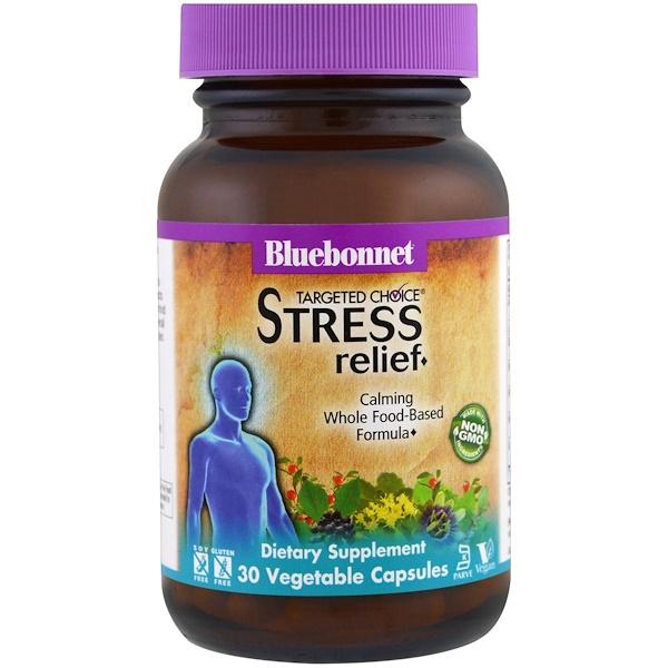Bluebonnet Nutrition, Средство для снятия напряжения Targeted Choice, 30 капсул растительного происхождения (Discontinued Item)