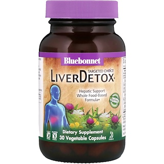 Bluebonnet Nutrition, Targeted Choice, Liver Detox, 30 Vegetable Capsules