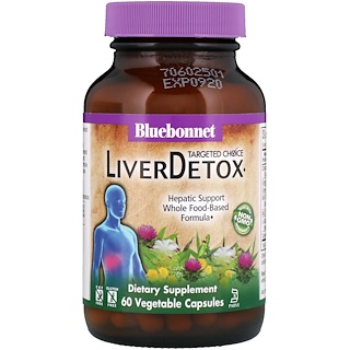 Bluebonnet Nutrition, Targeted Choice, Liver Detox, 60 Vegetable Capsules