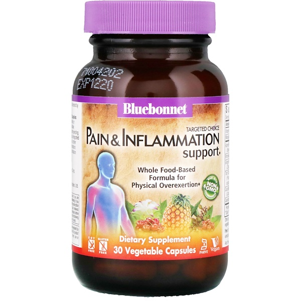 Bluebonnet Nutrition, Targeted Choice, Pain & Inflammation Support, 30 Vegetable Capsules (Discontinued Item)