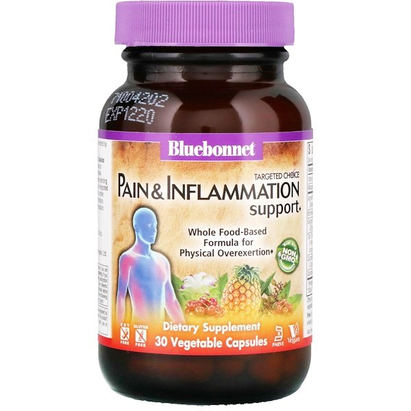 Bluebonnet Nutrition, Targeted Choice, Pain & Inflammation Support, 30 Vegetable Capsules