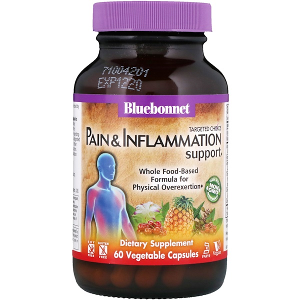 Bluebonnet Nutrition, Targeted Choice, Pain & Inflammation Support, 60 Vegetable Capsules (Discontinued Item)