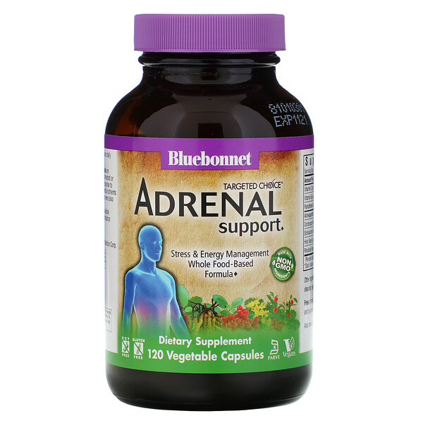 Bluebonnet Nutrition, Targeted Choice, Adrenal Support, 120 Vegetable Capsules (Discontinued Item)