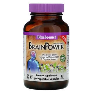 Bluebonnet Nutrition, Targeted Choice BrainPower™ 素食胶囊,60 粒素食胶囊