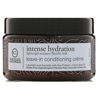 BCL, Be Care Love, Naturals, Hidración intensa, crema acondicionadora sin enjuagar, 9 oz (265 ml)