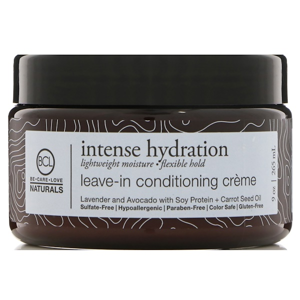 BCL, Be Care Love, Naturals, Hidración intensa, crema acondicionadora sin enjuagar, 9 oz (265 ml) (Discontinued Item)