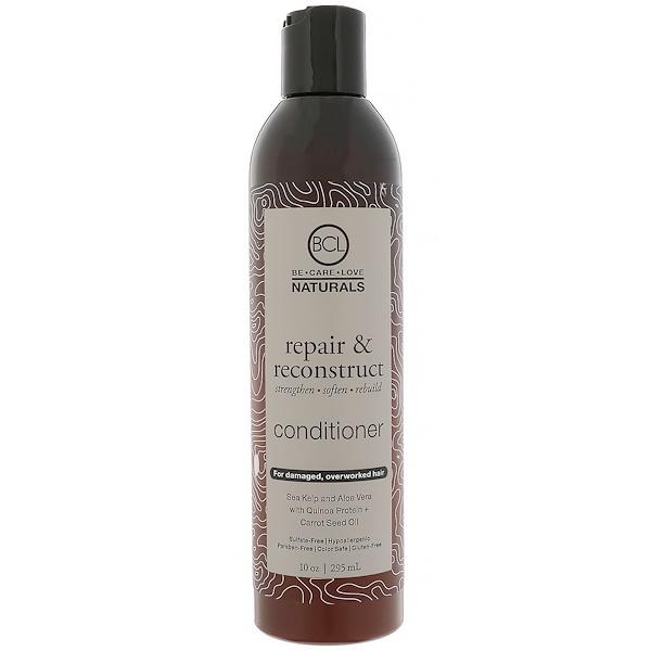 BCL, Be Care Love, Naturals, Reparar e Reconstruir, Condicionador, 10 onças (295 ml) (Discontinued Item)