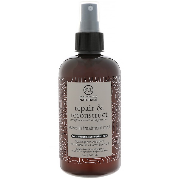 BCL, Be Care Love, Naturals, Repair & Reconstruct, Leave-In Treatment Mist, 9 oz (265 ml) (Discontinued Item)