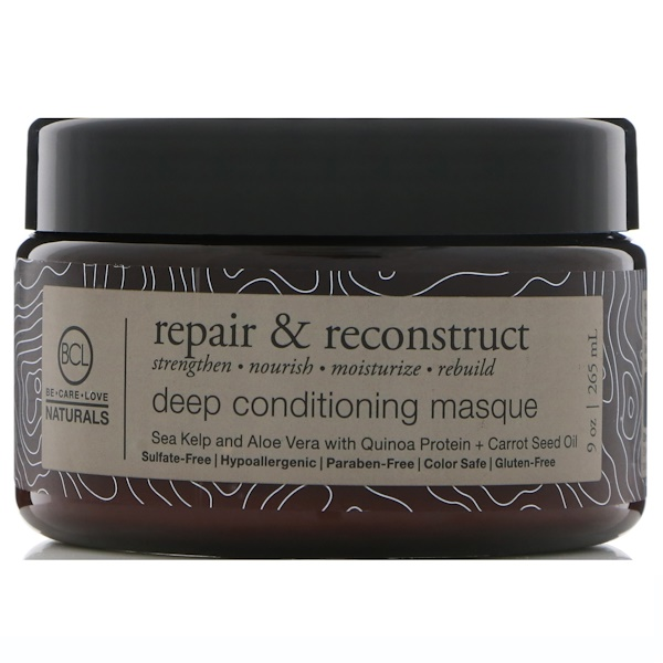BCL, Be Care Love, Naturals, Repara y reconstruye, Mascarilla de acondicionamiento profundo, 9 oz (265 ml) (Discontinued Item)