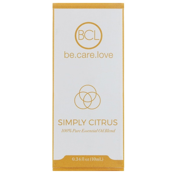 BCL, Be Care Love, 100% Pure Essential Oil Blend, Simply Citrus, 0.34 fl oz (10 ml) (Discontinued Item)