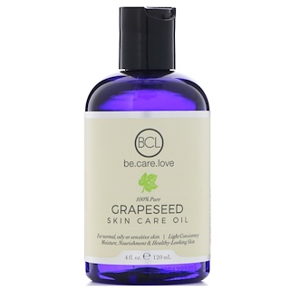 BCL, Be Care Love, 100% Pure Grapeseed Skin Care Oil, 4 fl oz (120 ml)