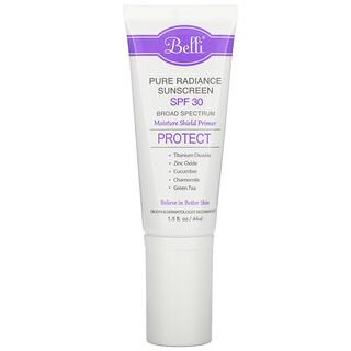 Belli Skincare, Pure Radiance Sunscreen, SPF 30, 1.5 fl oz (44 ml)