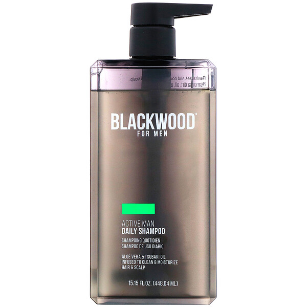 Blackwood For Men, Active Man Daily Shampoo, For Men, 15.15 fl oz (448.04 ml)