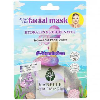 Biobelle, 식물성 섬유 얼굴용 마스크, 수분 공급 & 피부 활력, #VitaminSea, 시트 1장, 25g(0.88oz)