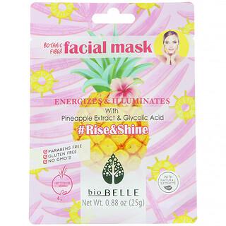 Biobelle, Botanic Fiber Facial Mask, Energizes & Illuminates, #Rise&Shine, 1 Sheet, 0.88 oz (25 g)
