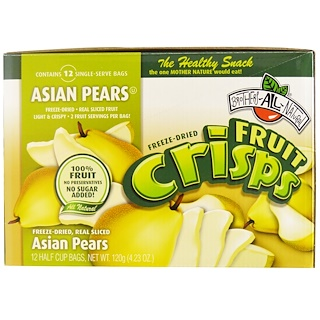 Brothers-All-Natural, Fruit-Crisps, Asian Pears, 12 Half Cup Bags, 10 g Each